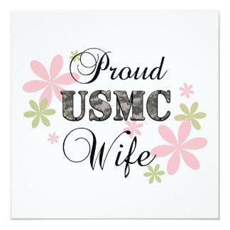 USMC Wife [fl camo] 13 Cm X 13 Cm Square Invitation Card