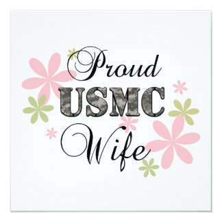 USMC Wife [fl camo] Card