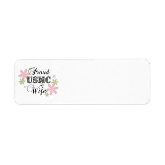 USMC Wife [fl camo] Return Address Label