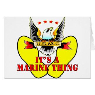 USMC Yellow Footprints It's A Marine Thing Card