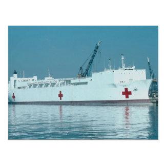 "USNHS ""Mercy"", hospital ship, San Diego Naval Stat Postcard"