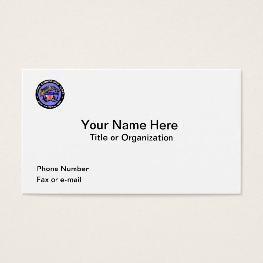 USPHS Commissioned Corps Business Cards