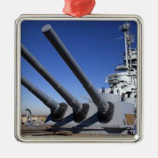 USS Alabama Battleship at Battleship Memorial 2 Christmas Ornament