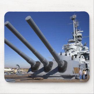 USS Alabama Battleship at Battleship Memorial 2 Mouse Mat