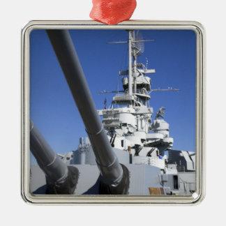 USS Alabama Battleship at Battleship Memorial Christmas Ornament