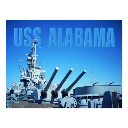 USS Alabama (BB-60), Mobile, AL Postcard