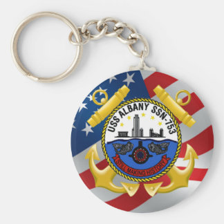 USS Albany SSN-753 Key Chain