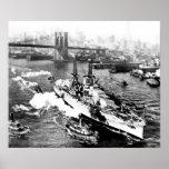USS Arizona at New York Poster