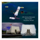 USS Arizona Memorial, Pearl Harbour Views Poster