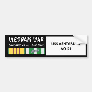 USS  ASHTABULA VIETNAM WAR VETERAN BUMPER STICKER