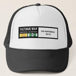 USS ASHTABULA VIETNAM WAR VETERAN TRUCKER HAT