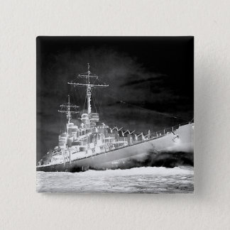 USS Atlanta 15 Cm Square Badge