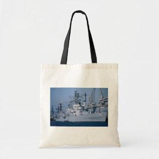 "USS Bainbridge"" nuclear powered cruiser, San Diego Canvas Bag"