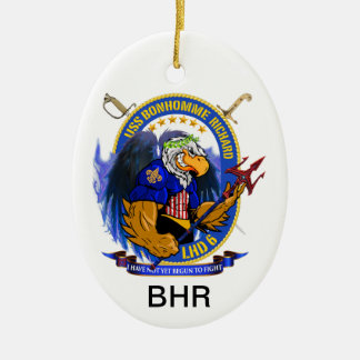 USS Bonhomme Richard LHD-6 living crest Ceramic Oval Decoration