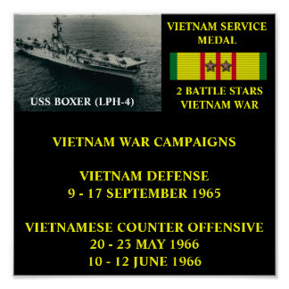 USS BOXER (LPH-4)  POSTER