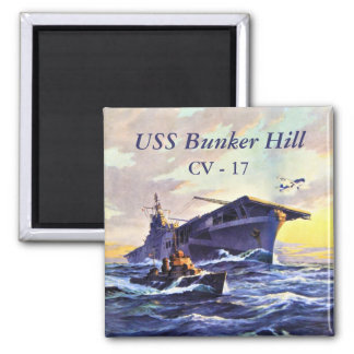 USS Bunker Hill at sea Magnet