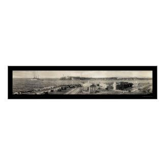 USS Carolina Havana Photo 1910 Poster