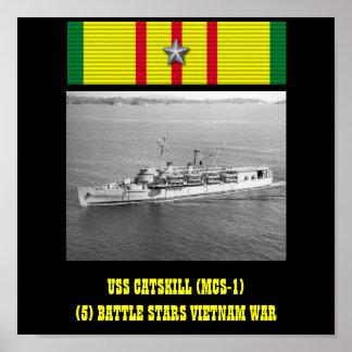 USS CATSKILL (MCS-1) POSTER
