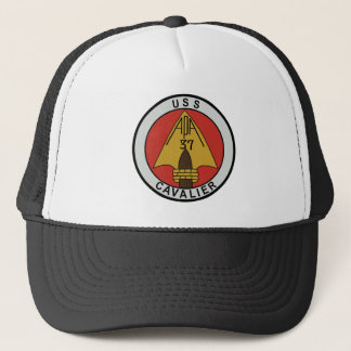 USS CAVALIER  APA 37 ATTACK TRANSPORT SHIP MILITAR TRUCKER HAT