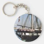 USS Constellation Basic Round Button Key Ring