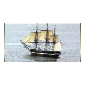 USS Constitution at Full Mask Picture Card