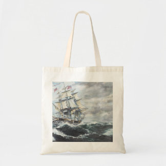 USS Constitution heads for HM Frigate Guerriere Tote Bag