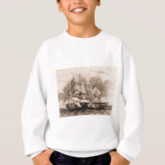 USS Constitution in action Sweatshirt