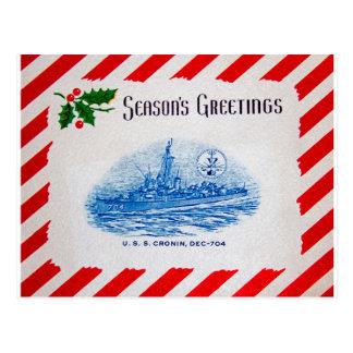 USS CRONIN Design Postcard
