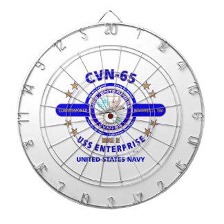 USS ENTERPRISE CVN-65  NAVY CARRIER DART BOARDS