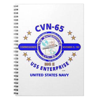 USS ENTERPRISE CVN-65  NAVY CARRIER NOTE BOOKS