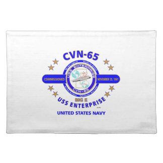 USS ENTERPRISE CVN-65  NAVY CARRIER PLACE MATS