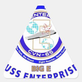 USS ENTERPRISE CVN-65  NAVY CARRIER TRIANGLE STICKER
