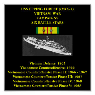USS EPPING FOREST (MCS-7) POSTER