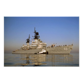 USS FOX CG-33 DLG-33 NAVY CRUISER GUIDED MISSILE PHOTO PRINT