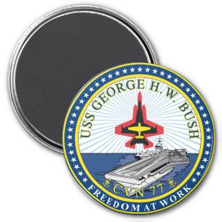 USS George H W Bush 7.5 Cm Round Magnet