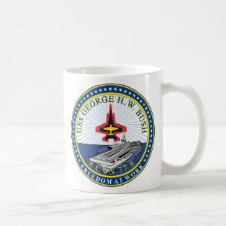 USS George H W Bush CVN-77 Basic White Mug