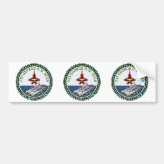 USS George H W Bush CVN-77 Bumper Stickers