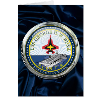 USS George H W Bush CVN-77 Greeting Cards
