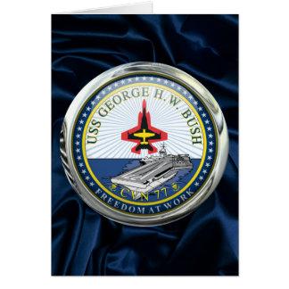 USS George H W Bush CVN-77 Greeting Card