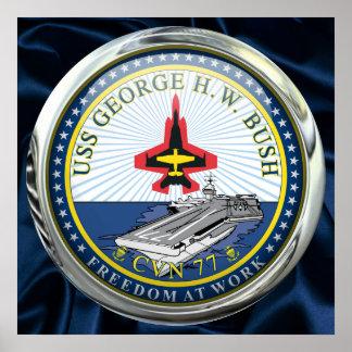 USS George H W Bush CVN-77 Print