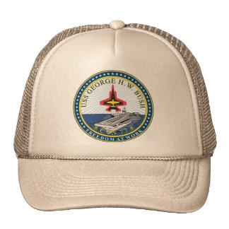 USS George H W Bush Trucker Hats