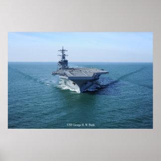 USS George H. W. bush Print