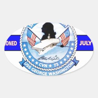 USS GEORGE WASHINGTON CVN-73  NAVY CARRIER OVAL STICKER