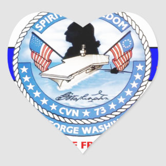 USS GEORGE WASHINGTON CVN-73  NAVY CARRIER HEART STICKER