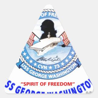 USS GEORGE WASHINGTON CVN-73  NAVY CARRIER TRIANGLE STICKER