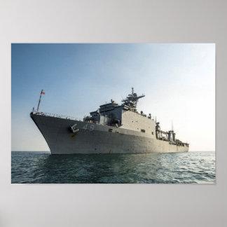 USS Harpers Ferry (LSD 49) Poster