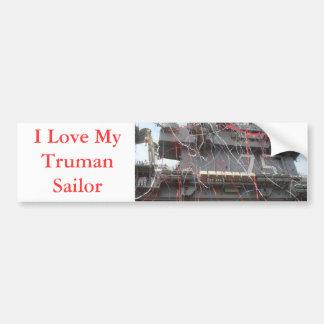 USS Harry S Truman CVN 75 Bumper Sticker