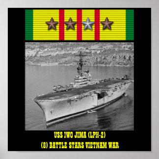 USS IWO JIMA (LPH-2) POSTER