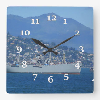 USS Jeremiah O'Brien Square Wall Clock