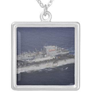 USS Kearsarge Square Pendant Necklace